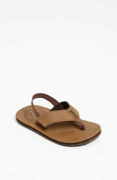 Reef Toddler Boy's 'Grom' Leather Flip-Flop