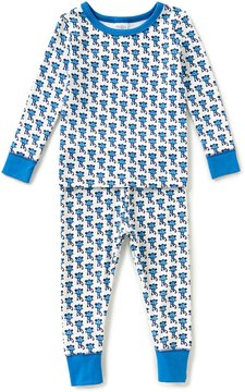 Starting Out Little Boys 2T-4T Monkey-Print Top & Pants Pajama Set