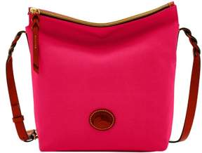 Dooney & Bourke Nylon Hobo Crossbody Shoulder Bag - PINK - STYLE