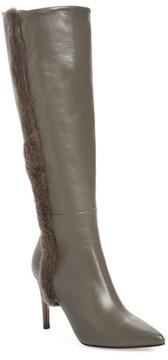 Donald J Pliner Women's Rafela Genuine Mink Fur Trim Boot