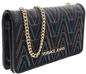 Versace EE3VRBPY4 Black/Multicolor Wallet on Chain