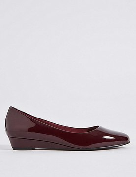 Marks and Spencer Wedge Heel Smart Court Shoes