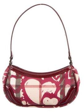 Burberry Painted Hearts Nova Check Bag - BURGUNDY - STYLE