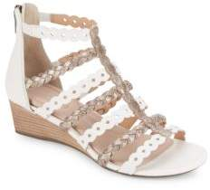Rockport Braided Leather Wedge Sandals