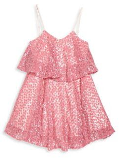 Milly Minis Girl's Sequin Tiered Tank Dress