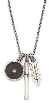 John Hardy Sterling Silver Bamboo Pendant Necklace