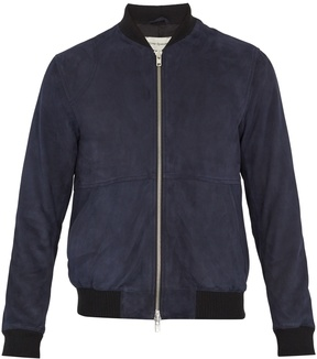 Oliver Spencer Contrast-edge suede bomber jacket