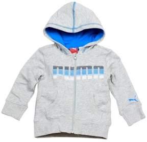 Puma Infant Toddler Boy's Heather Grey Slub Zip Hoodie Sport Sweatshirt Sz: 12M