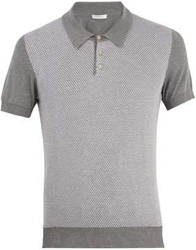 Boglioli Short-sleeve knit polo shirt