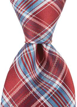 Roundtree & Yorke Cup Plaid Traditional Silk Tie