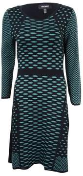 Nine West Women's Dot-Print Sweater Dress