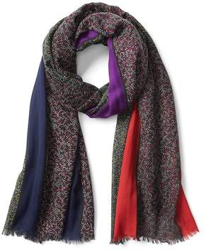 Gap Floral colorblock scarf