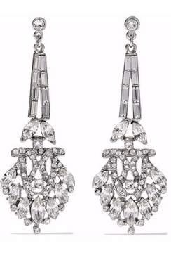 Ben-Amun Silver-Tone Crystal Earrings