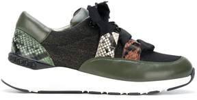 Casadei ribbon laced sneakers