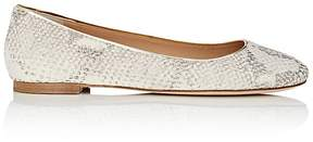 Diane von Furstenberg WOMEN'S CAMBRIDGE STAMPED LEATHER FLATS