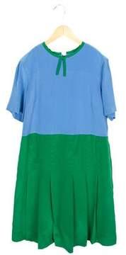 Marni Girls' Pleated Silk Dress w/ Tags