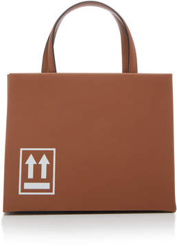 Off-White Printed Leather Tote
