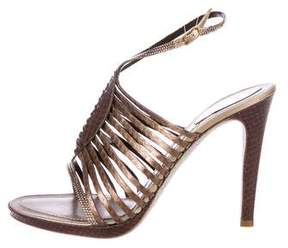 Rene Caovilla Snakeskin Cage Sandals w/ Tags