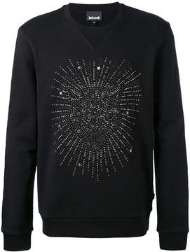 Just Cavalli studded tiger face sweatshirt