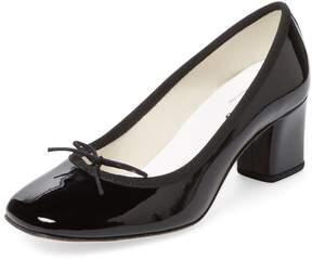 Repetto Women's Paname Patent Leather Block Heel Pump