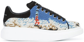 Alexander McQueen woven lace-up sneakers