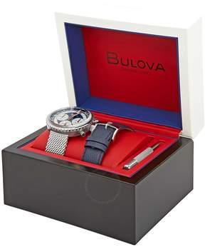 Bulova Special Edition Chronograph White Dial Men's Watch Set