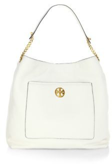 Tory Burch Chelsea Chain Leather Hobo Bag - NEW IVORY - STYLE
