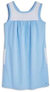 Vineyard Vines Girls' Eyelet Seersucker Shift Dress - Big Kid