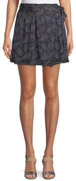 BA&SH Cort Tie-Side Printed Skirt