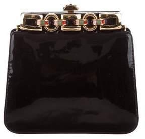 Judith Leiber Embellished Patent Leather Shoulder Bag