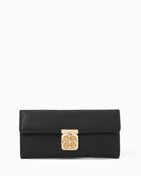 Charming charlie Clover Turnlock Crossbody Wallet