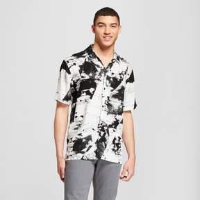 Jackson Men's Short Sleeve Abstract Digital Print Button-Down Shirt Black