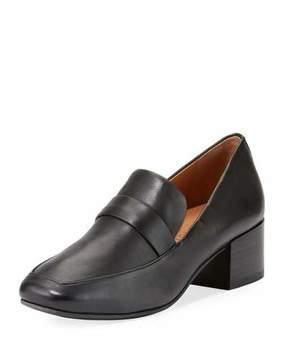 Gentle Souls Eliott Low-Heel Leather Loafer
