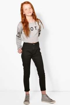 boohoo Girls High Rise Tube Jeans