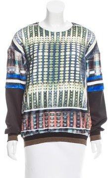 Clover Canyon Digital Print Long Sleeve Sweater