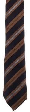 Fendi Silk Logo Print Tie
