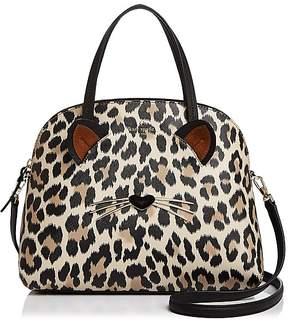 Kate Spade Run Wild Lottie Leopard Print Leather Satchel - MULTI/GOLD - STYLE