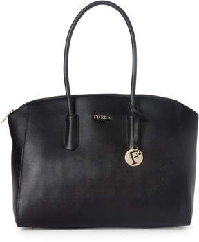 Furla Black Tessa Large Leather Tote