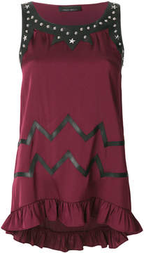 Frankie Morello studded sleeveless top