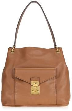 Miu Miu Cinnamon Leather Hobo Bag