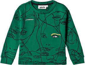 Molo Green Malissa Girly Faces Sweatshirt