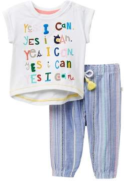 ED Ellen Degeneres Top & Pant Set (Baby Girls)