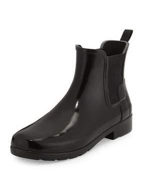 Hunter Original Refined Gloss Chelsea Rain Boot, Black