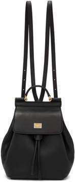 Dolce & Gabbana Black Small Sicily Backpack