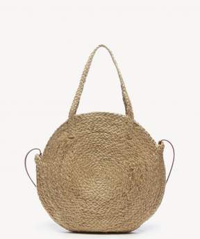 Sole Society Jalea Tote Circle Straw Bag