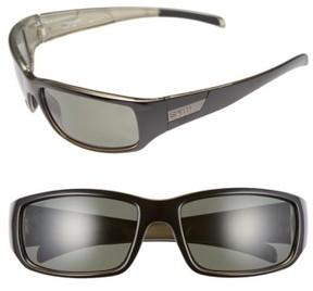 Smith Men's 'Prospect' 60Mm Polarized Sunglasses - Black/ Grey Green