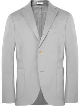 Boglioli Light-Grey Slim-Fit Unstructured Stretch-Cotton Twill Suit Jacket