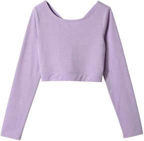 Joe Fresh Kid Girls' Cropped Wrap Tee, Light Purple Mix (Size L)