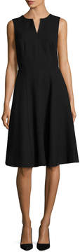 Ava & Aiden Women's Split Neck Fit And Flare Dress