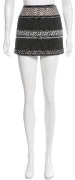 Edun Wool-Blend Mini Skirt